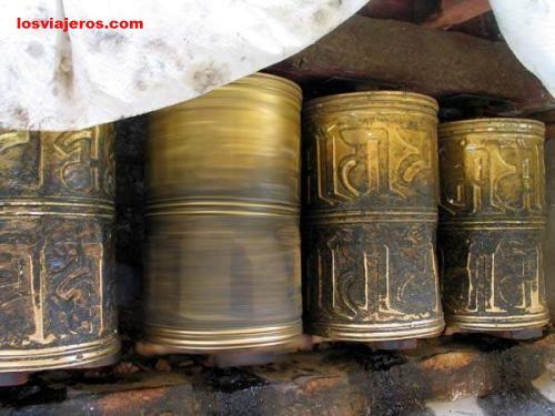 Ruedas de oracion - Drepung - Tibet - China Ruedas de oracion - Drepung - Tibet - China