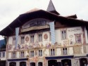 Houses with painted walls in Bavaria  Oberammergau is a muni