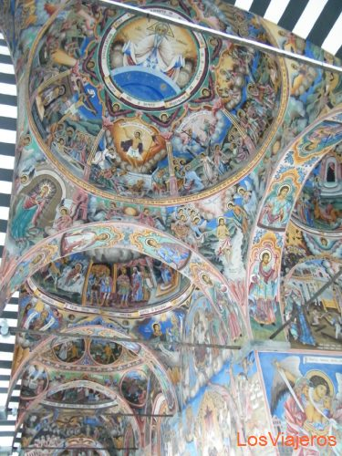 Details of  pictures that adorn the monastery of Rila - Bulgaria Detalles de los frescos que adornan el monasterio de Rila - Bulgaria