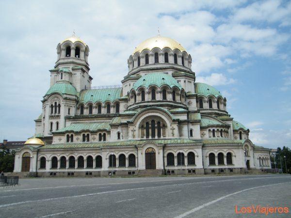 Basílica de Alexander Nevsky, en Sofia - Bulgaria Church of Alexander Nevsky, in Sofia - Bulgaria