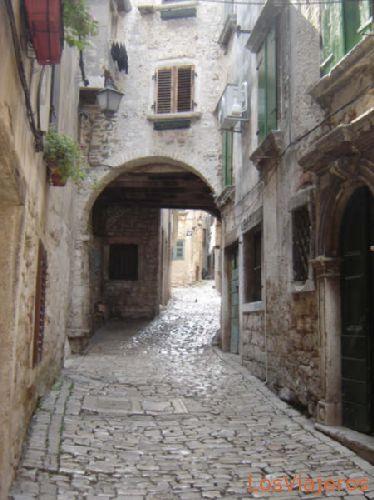 Rovinj street - Croatia Calle de Rovinj - Croacia