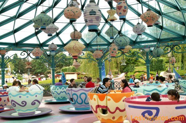Tazas de Te de Alicia - Disneyland - Francia Mad Hatter Tea Cups - Disneyland - France