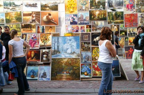 Art Market -Krakow- Poland Mercado de Arte -Cracovia- Polonia