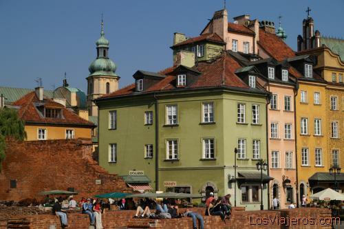 Castle Square or Plac Zamkowy -Warsaw- Poland Plaza del Castillo -Varsovia- Polonia
