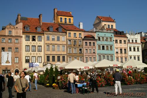 Main square in the Old Town -Warsaw- Poland Plaza de la Casco Antiguo -Varsovia- Polonia