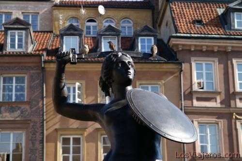 Syrene of Warsaw- Poland Sirena de Varsovia- Polonia
