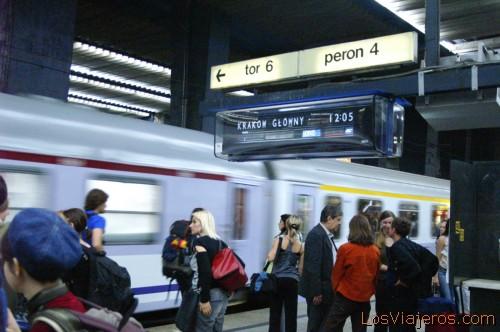 Warszawa Centralna Train Station -Warsaw- Poland Estacion Central de Trenes -Varsovia- Polonia