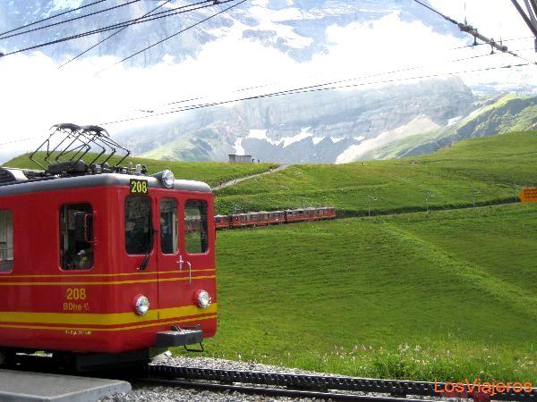 Cogwheel railway - Switzerland Tren cremallera - Suiza