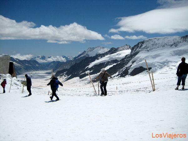 View from Jungfrau - Switzerland Vista desde Jungfrau - Suiza