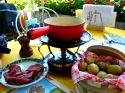 Ir a Foto: Fondue de queso  Go to Photo: Cheese Fondue