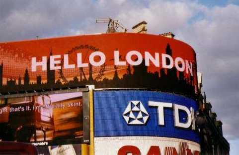 Hola Londres - Picadilly Circus - Reino Unido Hello London - Picadilly Circus - United Kingdom