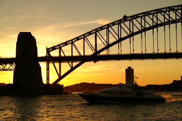Sydney Bridge -Sunset- Australia Puente de Sydney al atardecer - Australia