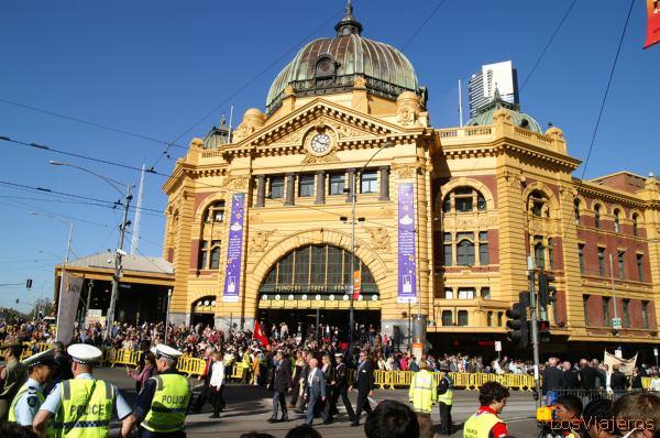 Flinders Street Station - Melbourne - Australia Flidders, estacion de trenes de Melbourne - Australia