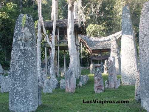 Otro tipo de cementerio de los Toraja. - Indonesia