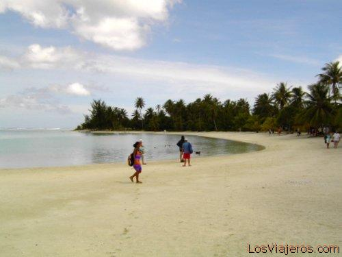 Bora Bora beach - Oceania Una de las playas de Bora Bora - Oceania