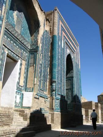 Undertaker complex of Shahr-i-Zindah - Samarkand - Uzbekistan - Asia Complejo funerario de Sharr-I-Zindah.-Samarcanda - Uzbekistan - Asia