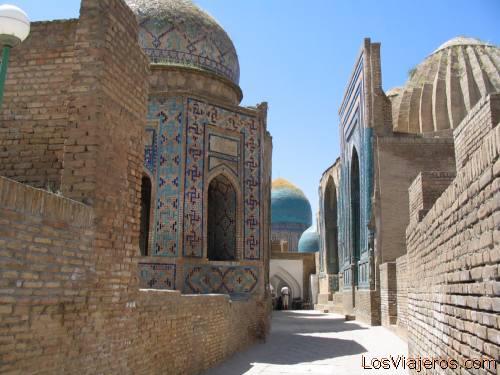 Undertaker complex of Shahr-i-Zindah - Samarkand - Uzbekistan - Asia Complejo de Sharr-I-Zindah.-Samarcanda -Uzbekistan - Asia