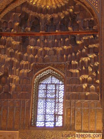 Guri Amir Mausoleum cupola - Samarkand - Uzbekistan - Asia Cúpula del Mausoleo de Guri Amir.-Samarcanda -Uzbekistan - Asia