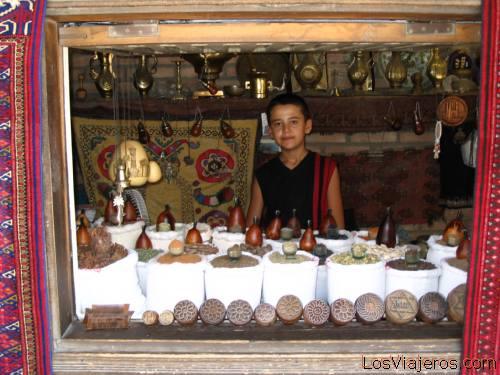 Tienda de especias- Bukhara-UZBEKISTAN - Asia